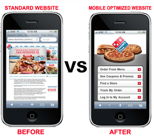 Dominos Mobile Example